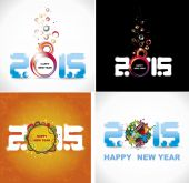 New year 2015 in white background. Abstract poster — Stok Vektör