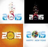 New year 2015 in white background. Abstract poster — Stockvektor