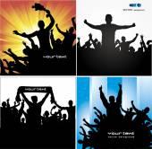 Posterler sporları şampiyonası ve konserler için ayarla — Stok Vektör