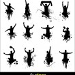 Silhouettes for advertising banner sports championships and concerts — Stock Vector #57740361