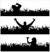 Zestaw plakat na koncert muzyki. — Wektor stockowy