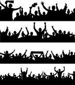 задать плакаты для спортивных чемпионатов и концерты — Cтоковый вектор