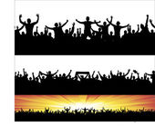 Banners for sporting events and concerts — Stock Vector
