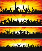 Set banners for sporting events and concerts — Stock Vector