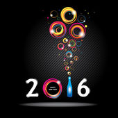 New year 2016 in black background. Abstract poster — Stock Vector