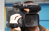 Television cameraman — Stock Photo