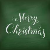 Christmas Chalkboard with lettering. — Vetorial Stock