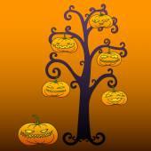 Halloween tree — Stock Vector