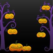 Black Halloween tree frame — Stock Vector