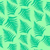 Fern leaves seamless pattern — Stock Vector