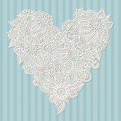 декоративное сердце — Cтоковый вектор