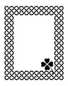 Celtic style shamrock frame — Stock Vector
