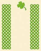 Green celtic shamrock frame — Stock Vector