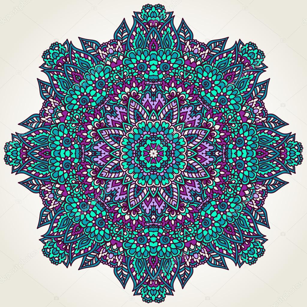 Цветочный рисунок Мандала — стоковый вектор #93227740: http://ru.depositphotos.com/93227740/stock-illustration-floral-doodle-mandala.html