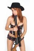 Girls with Guns — Stock Photo