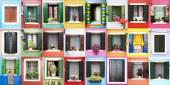 Burano windows — Foto de Stock