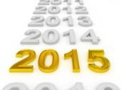 Happy New Year 2015. — Stock Photo