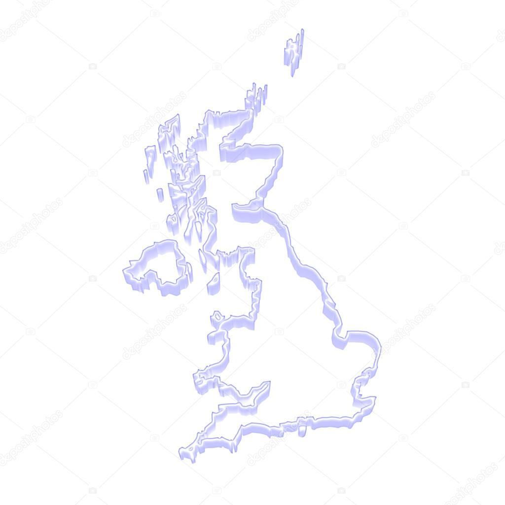 英国的三维地图 — 图库照片08tatiana53#61956101