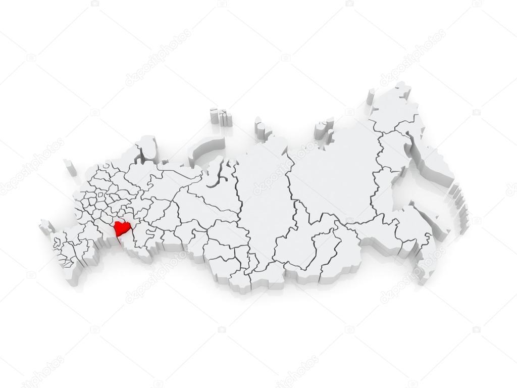 俄罗斯联邦的地图.萨马拉州.3d– 图库图片