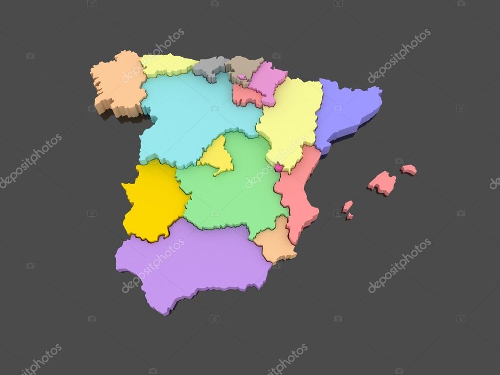 西班牙的三维地图 — 图库照片08tatiana53#645327