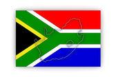 Χάρτης της Δημοκρατίας της Νοτίου Αφρικής (rsa). — Foto de Stock
