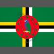 Map of Dominica. — Stock Photo #65804193