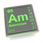 Americium. Chemical element. — Stock Photo #66010849