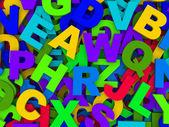 Buchstaben des englischen Alphabets. — Stockfoto