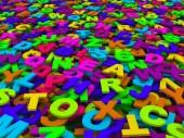 Letras do alfabeto inglês. — Fotografia Stock