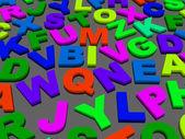 Lettere dell'alfabeto inglese. — Foto Stock