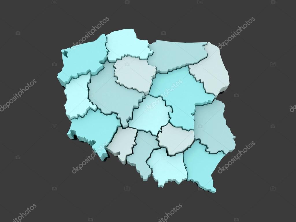 波兰的三维地图 — 图库照片08tatiana53#68754877