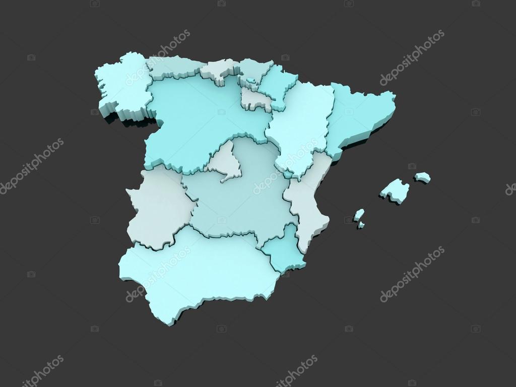西班牙的三维地图 — 图库照片08tatiana53#687549
