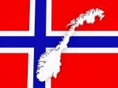 挪威的三维地图. — 图库照片