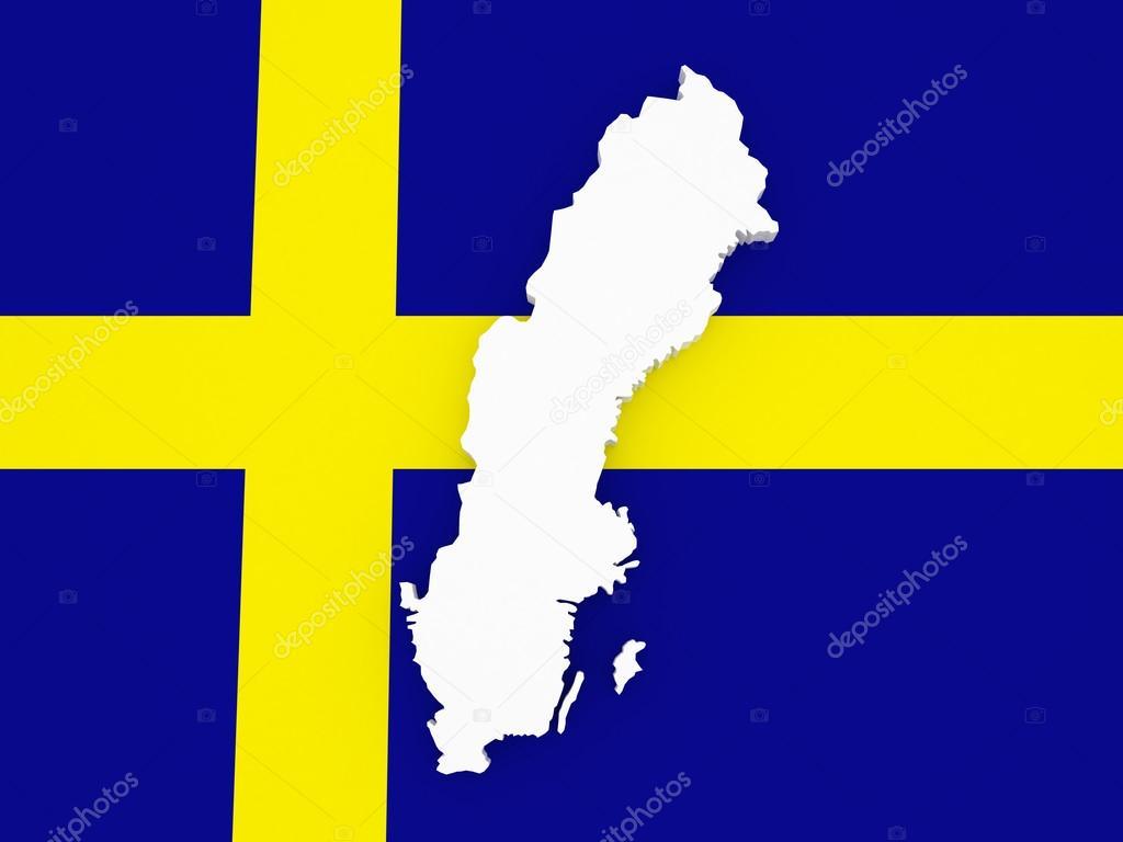 瑞典的三维地图 — 图库照片08tatiana53#70505523