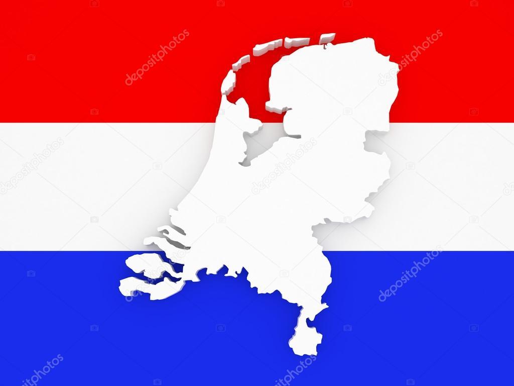 荷兰的三维地图 — 图库照片08tatiana53#70506057