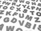 Letras del alfabeto inglés. — Foto de Stock