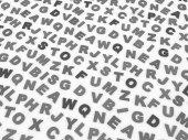 Písmena anglické abecedy. — Stock fotografie