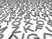 英语字母表的字母. — 图库照片
