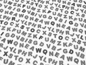Litery alfabetu angielskiego. — Zdjęcie stockowe