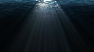 Abstract beautiful background. rays of the sun under water. — Stock Video