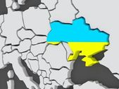 Map of worlds. Ukraine. — Stock Photo