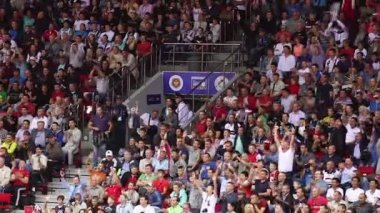 Wild Fans at Sporting Event — Stock Video