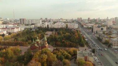 Orthodox Church. Aerial shot. — Stock Video