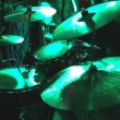 Rock band performing in a nightclub. drummer playing on drum set — Stock Video #54500209