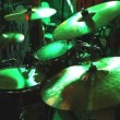 Rock band performing in a nightclub. drummer playing on drum set — Stock Video #54500309