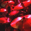 Rock band performing in a nightclub. drummer playing on drum set — Stock Video #54500313