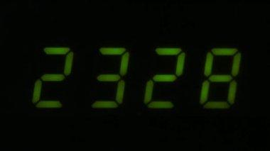 Digital led counter from twenty-three — Stock Video