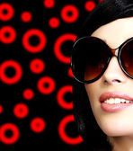 Pretty girl with sunglasses — Stock Photo