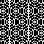 Hexagons texture. Seamless geometric pattern. — Stock Vector #53343091