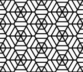 Hexagons latticed texture. Seamless geometric pattern.  — Stock Vector